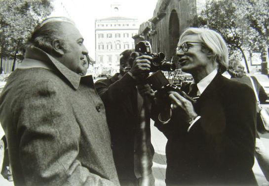 Mimmo Frassineti, Andy Warhol & Federico Fellini, 1970s