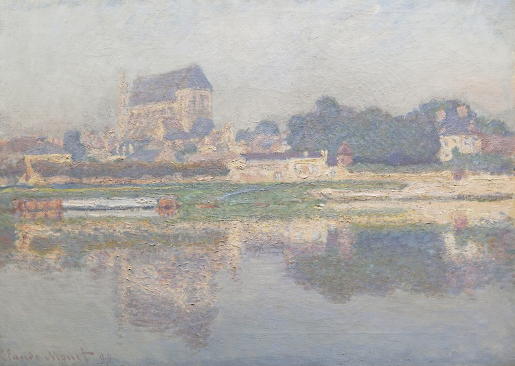 CLAUDE MONET. Église de Vernon, soleil, 1894. Estimated at $7,000,000 — $9,000,000