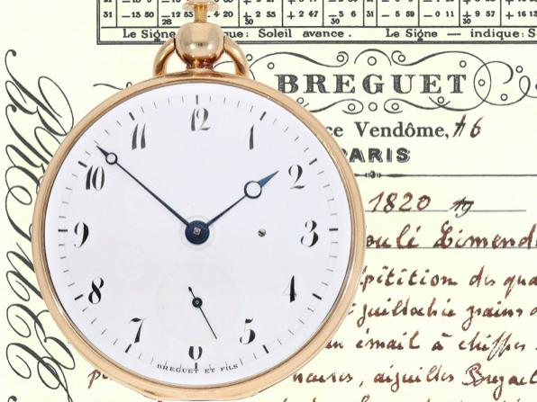 Breguet con calibro raro, 1809-19. Foto: Cortrie
