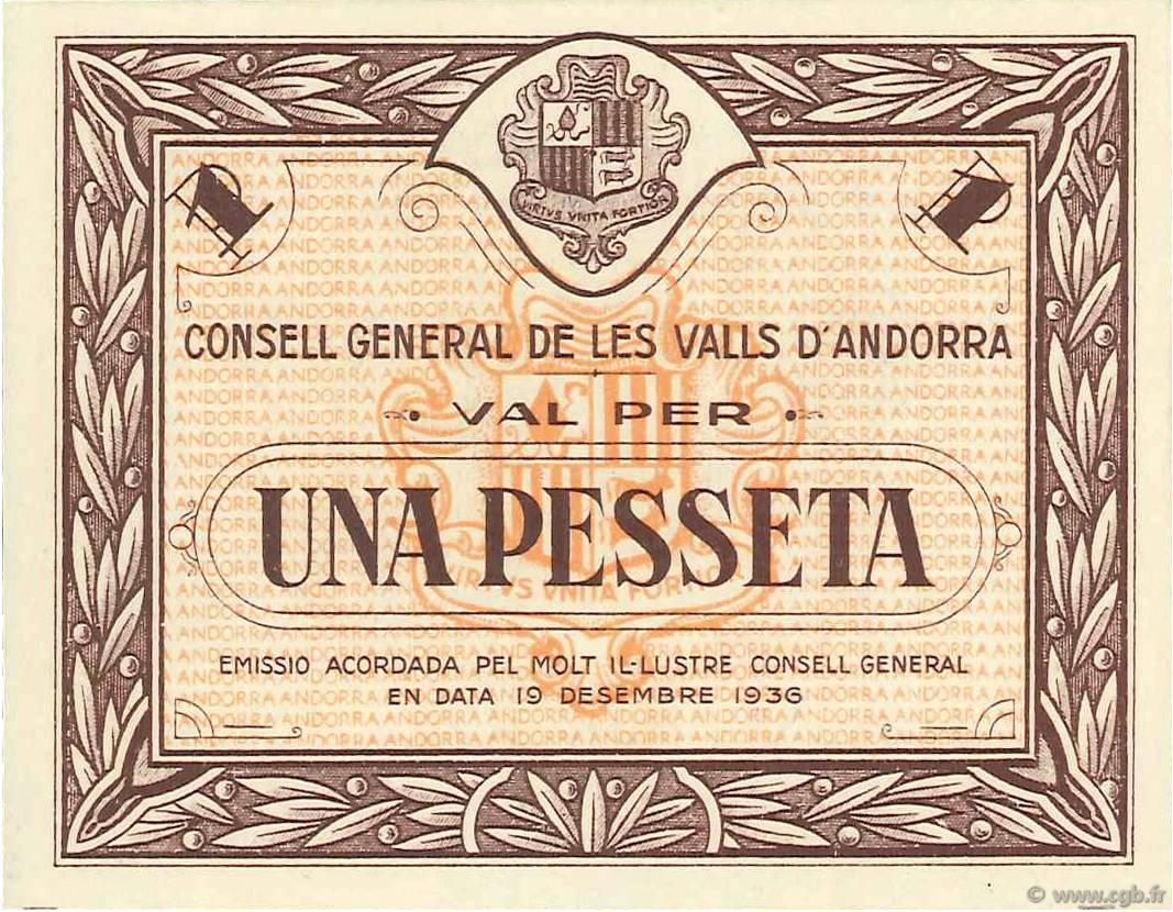 1 Pesseta ANDORRE 1936 P.06