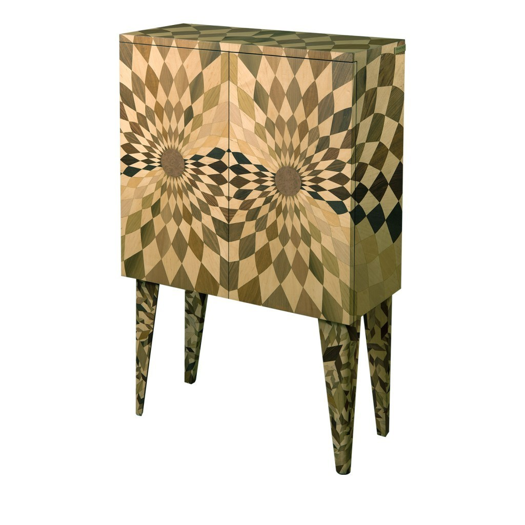"""Framondi - Cabinet """"Stereograf"""" in wood with inlaid"""