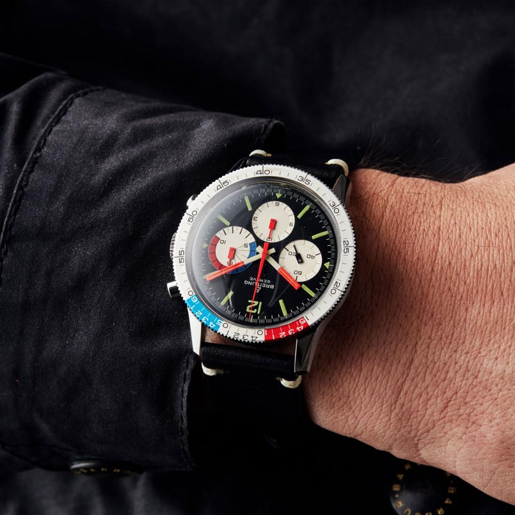 Todays Wristshot: BREITLING, Geneve, Yacht Timer Chrono (Swiss Made T), Cal Venus 178 (TJ), Ref nr. 7650, chrono, 42 mm, ca 1969, LOT5(photo:kaplans.se)