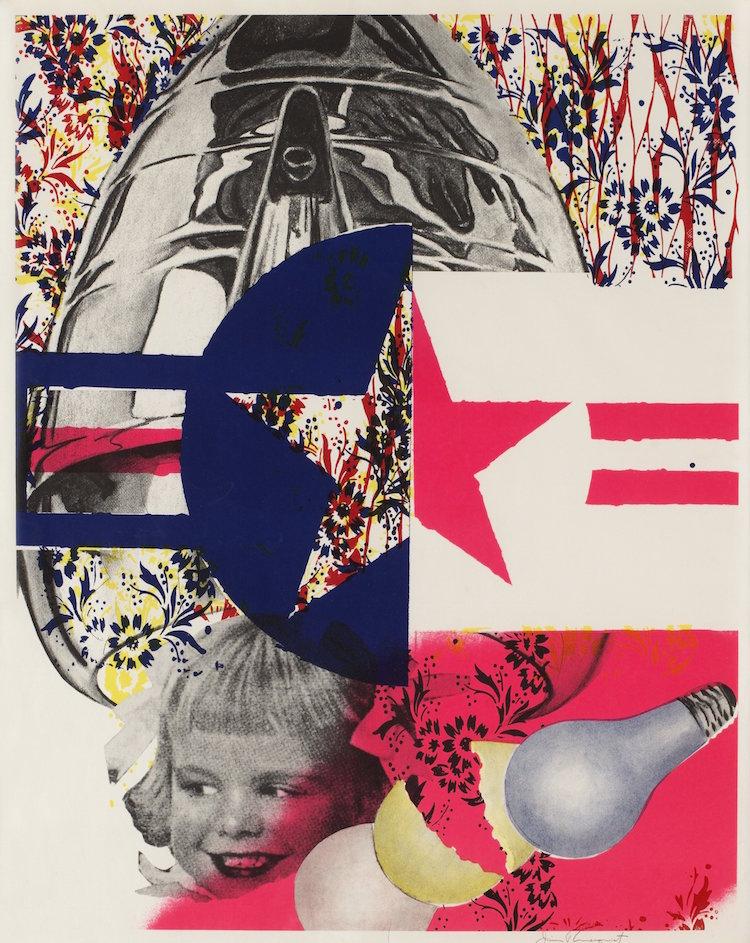 F-111 (Castelli Gallery poster) 1965, James Rosenquist. Bild via bukowskis.com