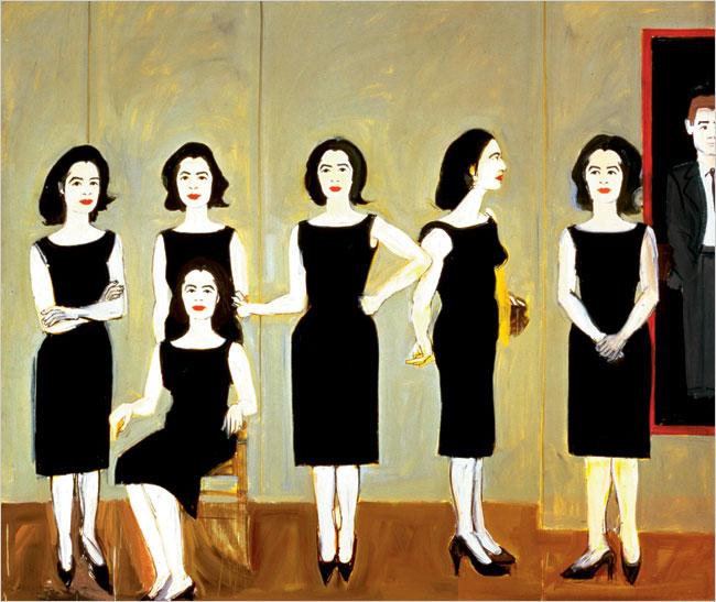 The Black Dress, 1960 Alex Katz © Alex Katz/Licensed by Vaga, New York