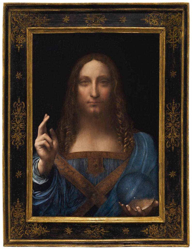 Leonardo da Vinci, Salvator Mundi, c. 1500. Foto: Christie's.