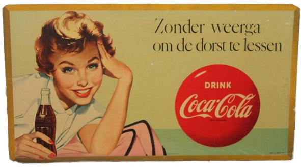 Enseigne publicitaire Coca-Cola - 1958