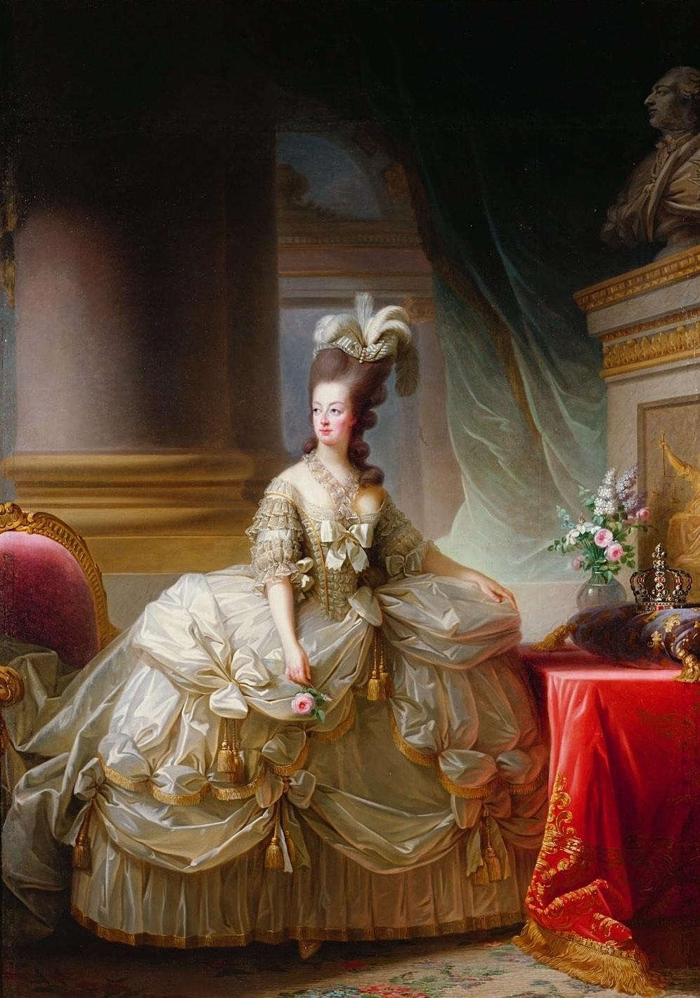 """Élisabeth Vigée Le Brun, """"Marie Antoinette in Court Dress"""", 1778"""