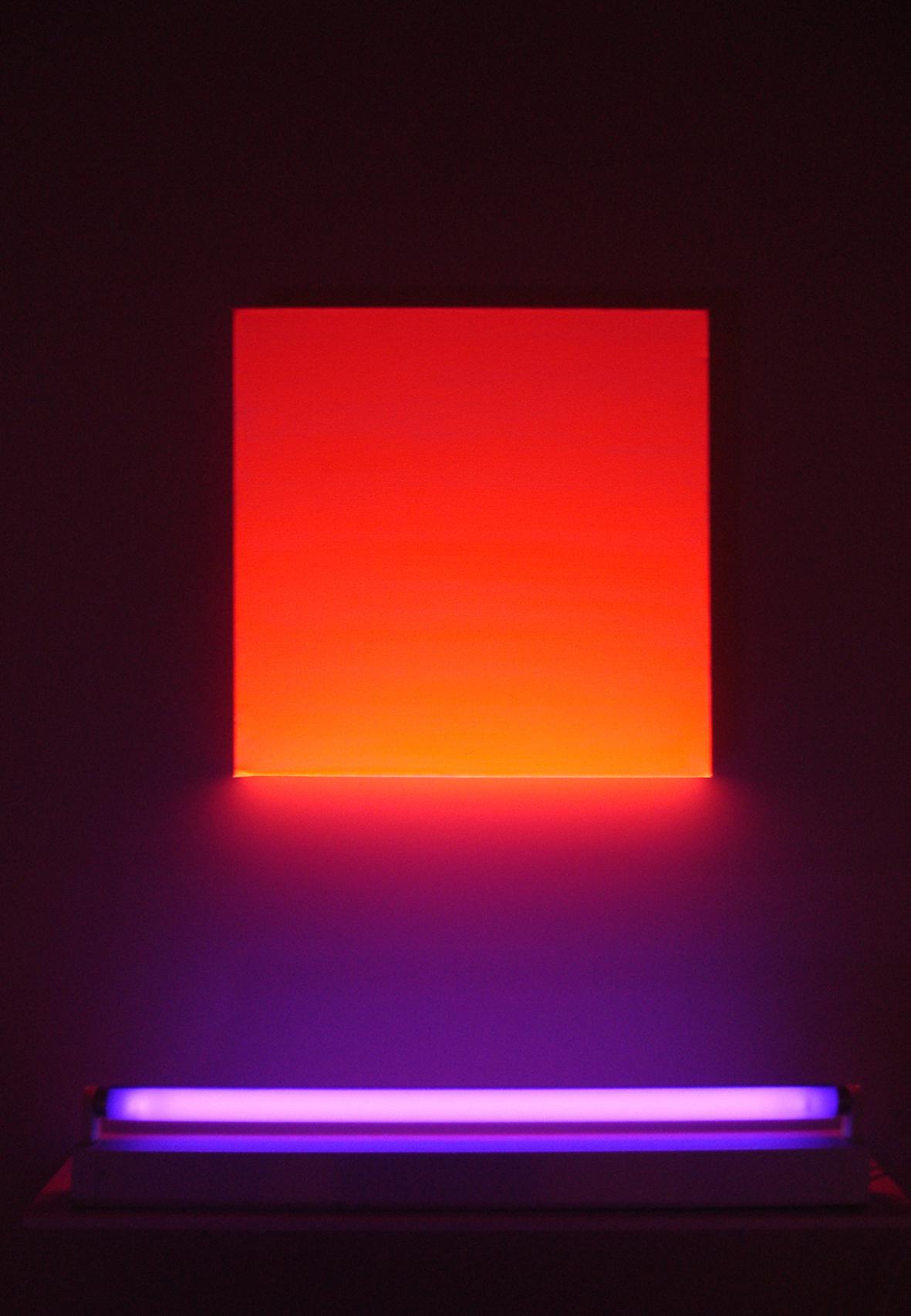 Éric Michel, Monochrome de Lumi.re Bengale Red, 2007 © Adagp, Paris 2015 Courtesy Galerie Véronique Smagghe