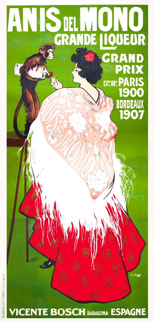 Ramón Casas Anís del Mono Original Poster Barcelona