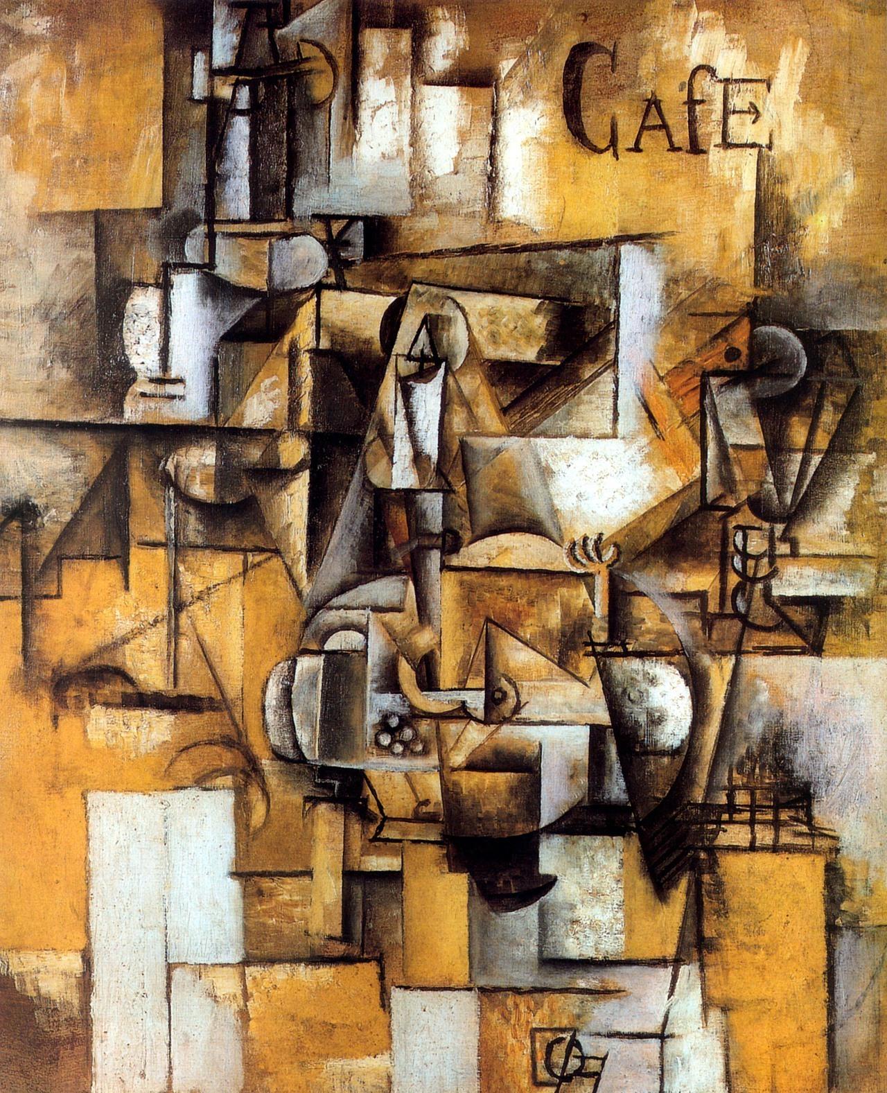 Pablo Picasso, Le pigeon aux petit pois, 1911, huile sur toile