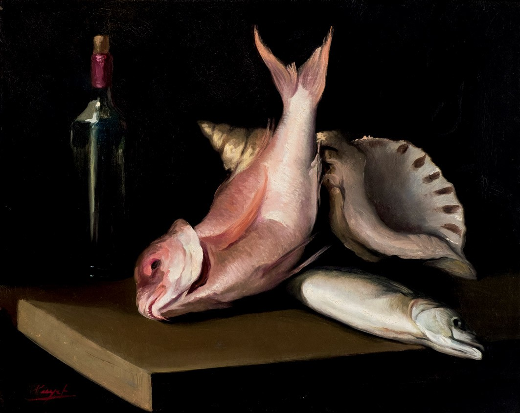 José Puyet, « Bodegón de peces », estimation : 500 euros, image ©Durán
