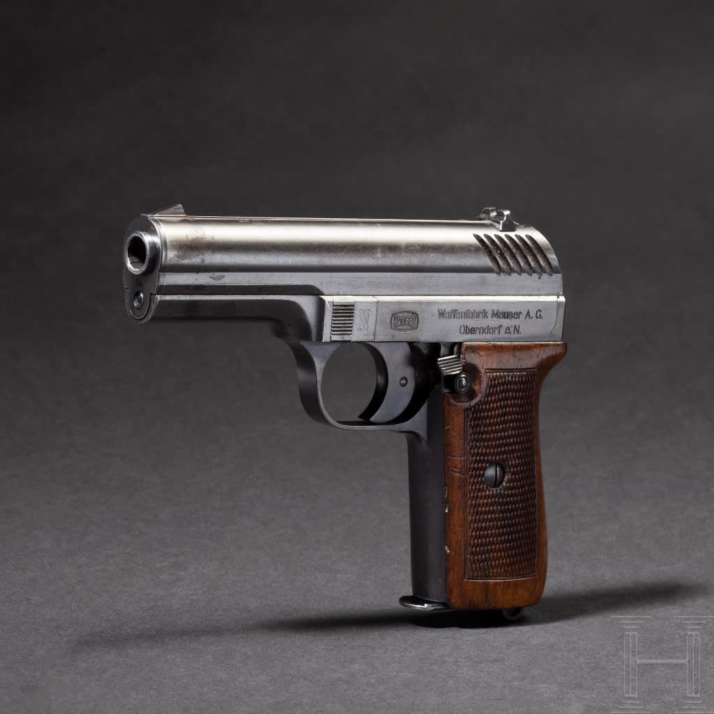 Prototyp av pistolen Nickl, tillverkad av Mauser år 1921.