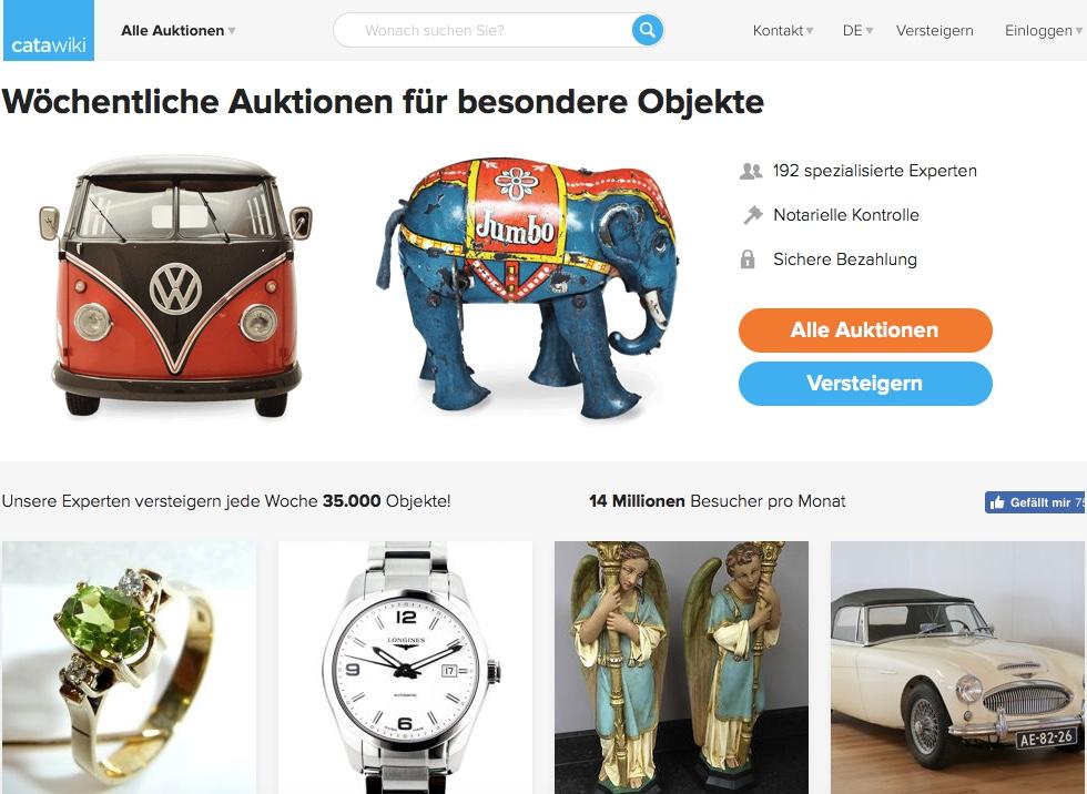 Catawikis Startseite in Deutschland