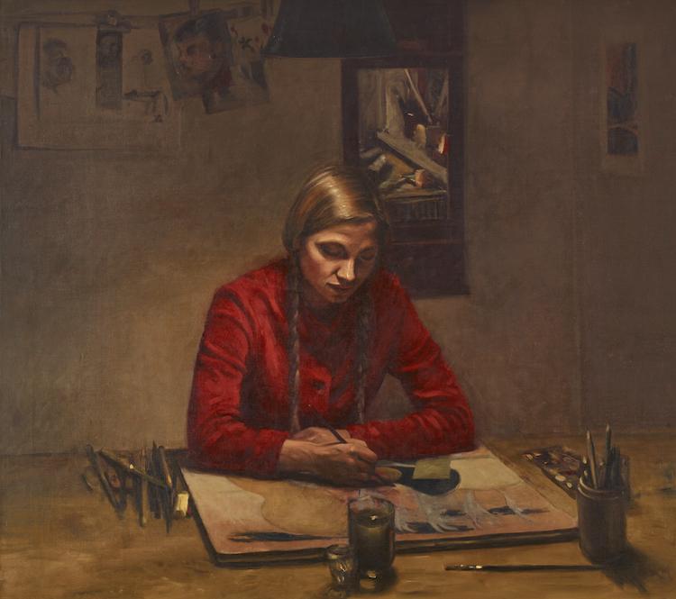 Suveränt exempel på svenskt måleri från 1970-talet. Ola Billgrens