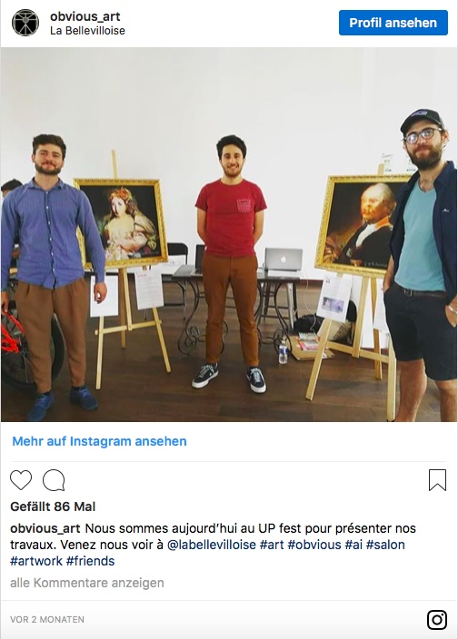 obvious_art auf Instagram