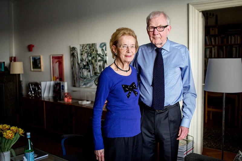 Anna-Stina Malmborg och Gunnar Höglund. Foto: Karolinska Institutet.