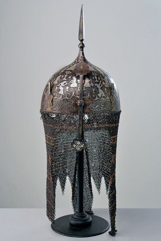 A rare silver-encrusted khula-khud. Low estimate: 5 500 USD