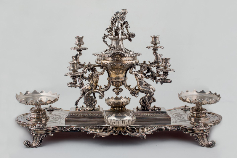österrikisk-ungersk centrum i silver. S. XIX