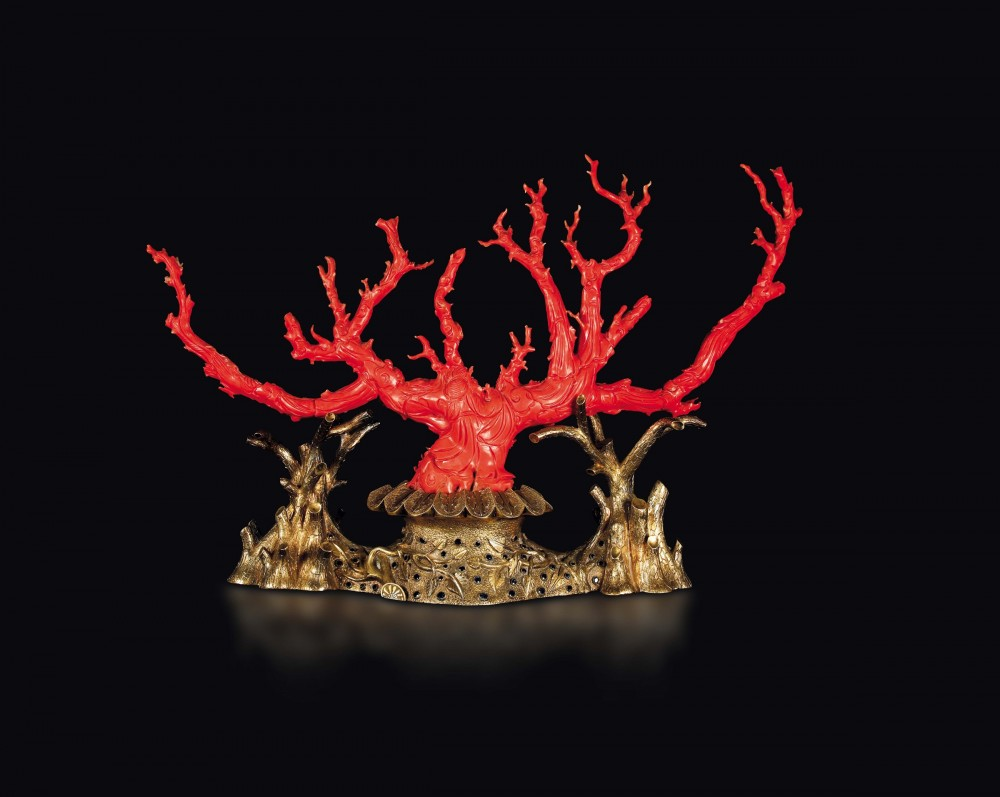 Carved coral branch