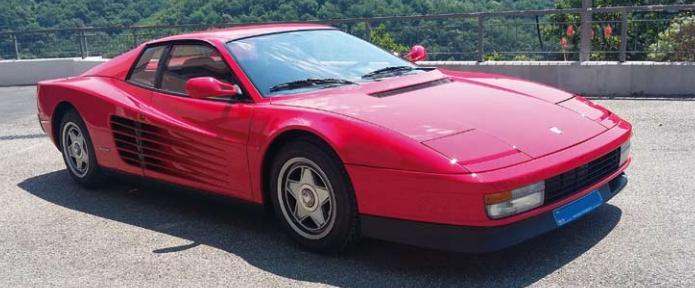 Ferrari Testarossa 1987 Image via Monte Carlo Sun Auctions
