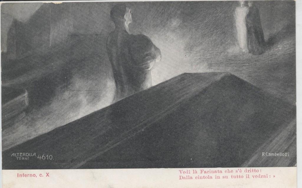 Farinata degli Uberti, Inferno, c X, Duilio Cambellotti, 1901