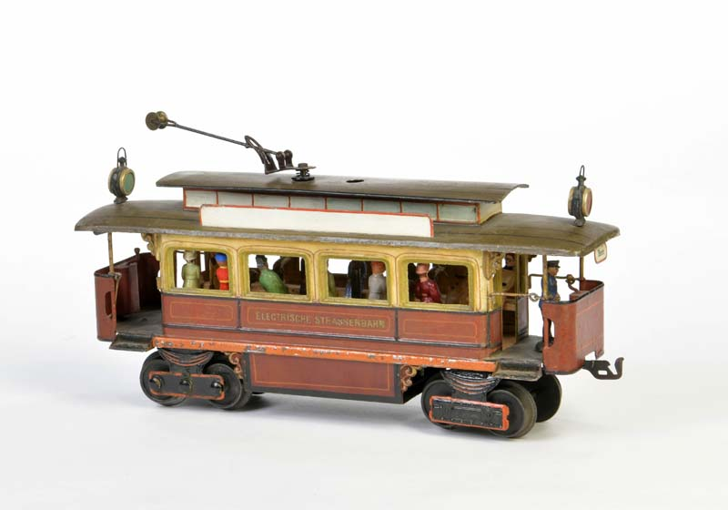 MÄRKLIN Spur 1 Straßenbahn Motorwagen mit original Schlüssel + Figuren