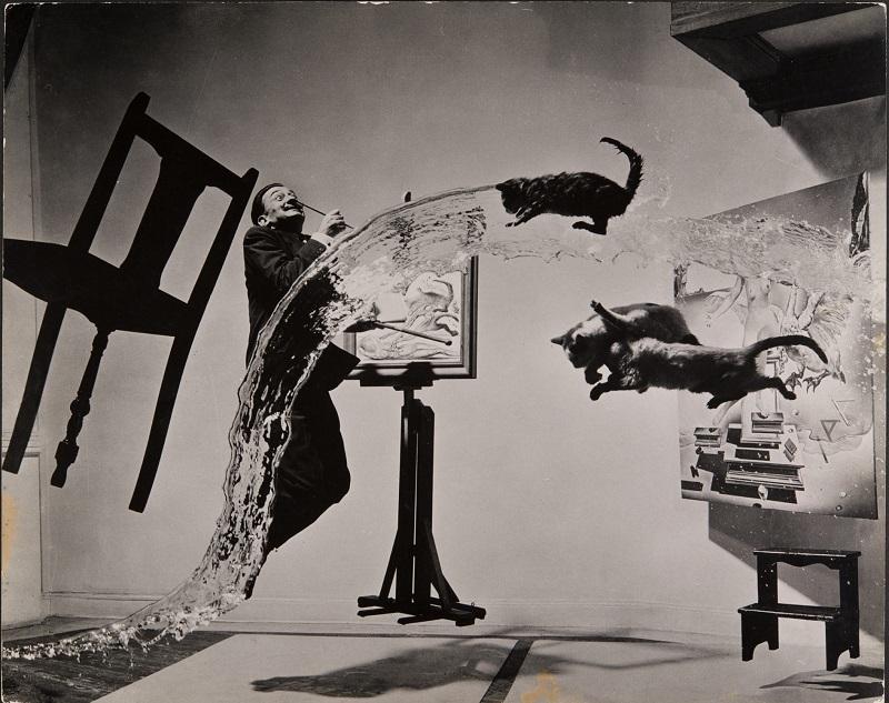 Philippe Halsman, Dalí Atomicus (1948), Musée de l'Elysée © 2016 Philippe Halsman Archive / Magnum Photos. Exclusive rights for images of Salvador Dalí: Fundació Gala-Salvador Dalí, Figueres, 2016