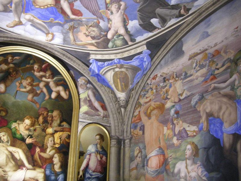Particolare della cappella di Eleonora di Toledo, immagine via Wikimedia Commons.