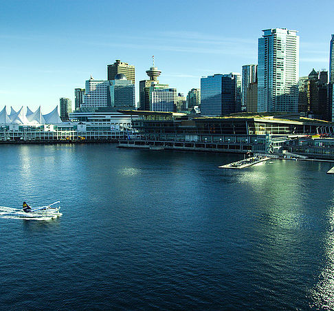 Aerial view of the Vancouver Convention Centre. Image: Art Vancouver