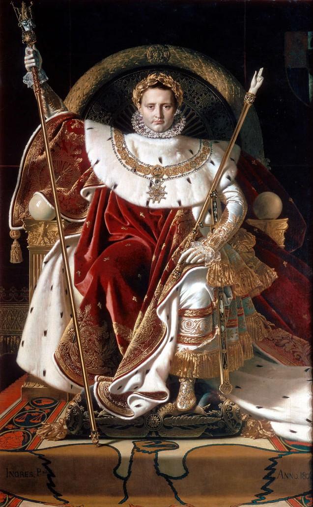 Napoleon I on the imperial throne, Jean-Dominique Ingres © Musée de l'Armée