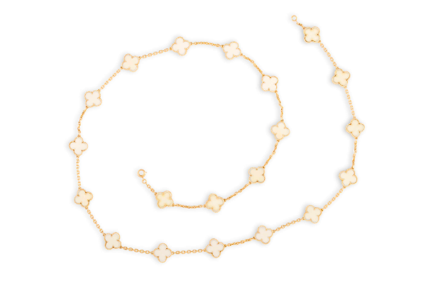 Gold and Ivory 'Alhambra' Necklace by Van Cleef & Arpels. Photo: Adam's