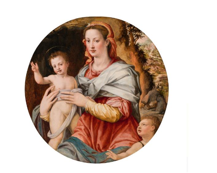 RIDOLFO DI GHIRLANDAIO (Florenz 1483 - 1561 Florenz) - Madonna mit Kind und Johannesknaben Öl/Holz, 92 × 90,5 cm (Tondo) Schätzpreis: 35.000-70.000 EUR