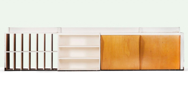 Le Corbusier and Charlotte Perriand, cabinet, 1952. Photo: Aguttes.