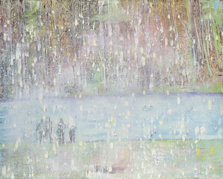 Peter Doig, Cobourg 3 + 1 More, 1994. Oil on canvas. 78½ x 98⅜ in (200 x 250 cm). Sold for £12,709,000 in the Post War and Contemporary Art Evening Sale on 7 March at Christie's London