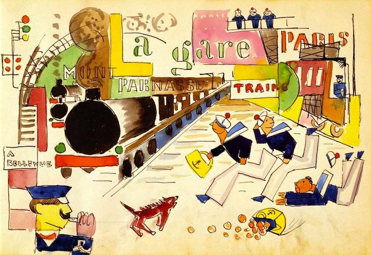 Ett av de åtta grafiska verken av G.A-N som säljs av Arnos Konst, Strandgalleriet. Med Barnebys får du 10%!
