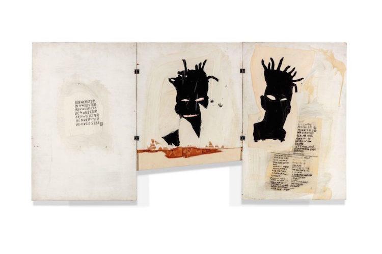 Jean-Michel Basquits självporträtt tillhörde an av auktionens populäraste målningar