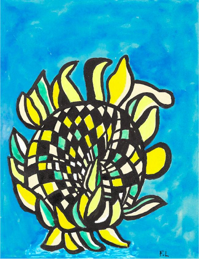 FERNAND LÉGER - Fleur - Projet pour la couverture de 'Cahier d'Art', 1952-54