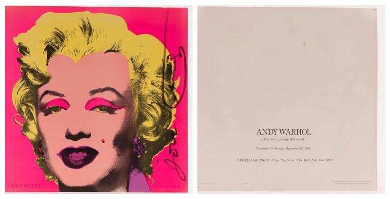 ANDY WARHOL. Invitación para Factory Editions con la imagen de Marilyn Monroe