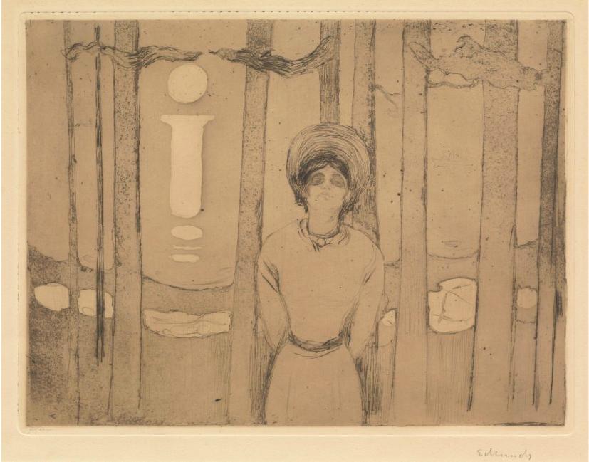 """Edvard Munch. """"Sommernatt. Stemmen"""" / """"Summernight. The voice"""" 1894. Blomqvist"""