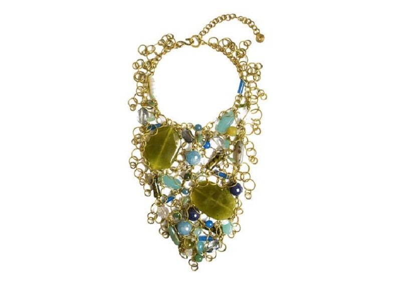 Collar Sofia de FABIO CAMMARATA con piezas de ágata, jade y cuarzo
