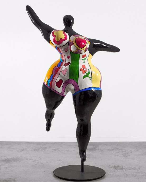 Niki De Saint Phalle (1930 - 2001)  Nana Danseuse Noire (Grande Danseuse Negresse) - Circa 1968