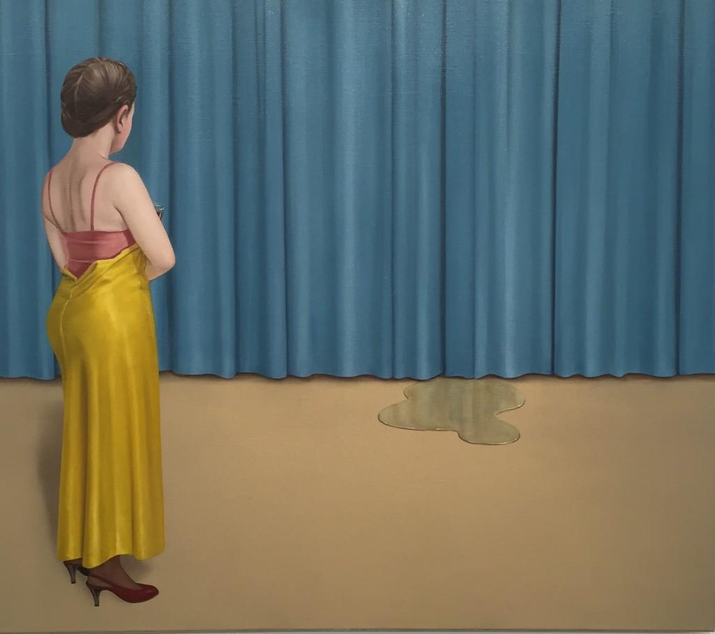 Patrik Andiné Oljemålning cirka 20 x30 cm. 2015