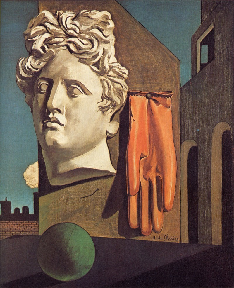 Giorgio de Chirico, « Le chant d'amour » (1914), image via- esquizonauta