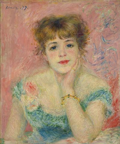 Portrait de Jeanne Samary ou La Rêverie, Jean-Auguste Renoir Image: Musée Pouchkine, Moscou