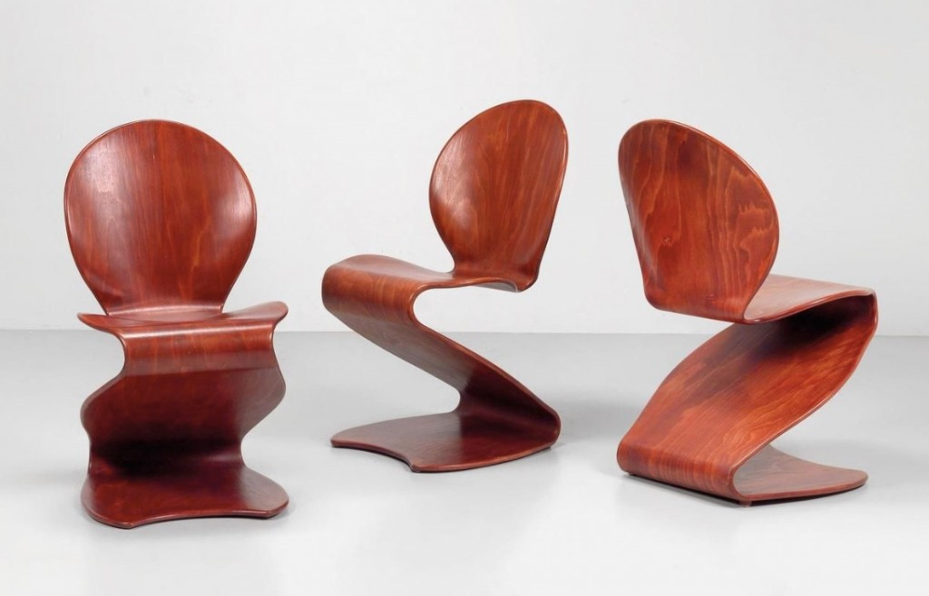 """VERNER PANTON - 3 """"S-Chairs"""" Modell Nr. 276, 1956/65"""