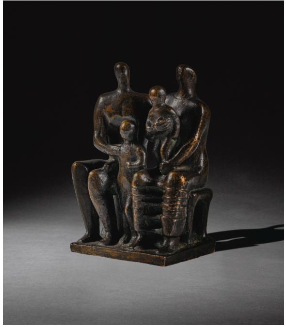 Henry Moore, O.M., C.H., Family Group, 1944Estimate: £250 000 -350 000Hammer price: £581 000