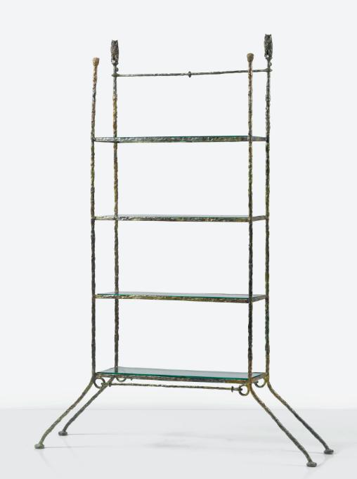 """Bücherregal """"Au Mexique"""" von Diego Giacometti für Marie Pierre Colle Corcuera , gefertigt um 1966"""