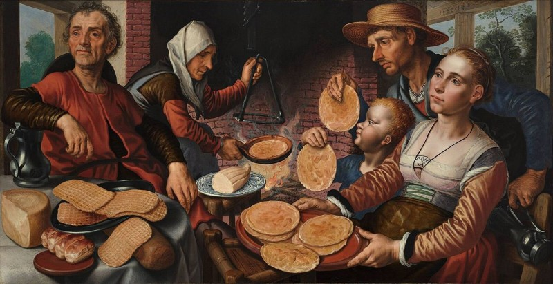 "Pieter Aertsen, ""The Pancake Bakery,"" cirka år 1560. Foto via Wikipedia."