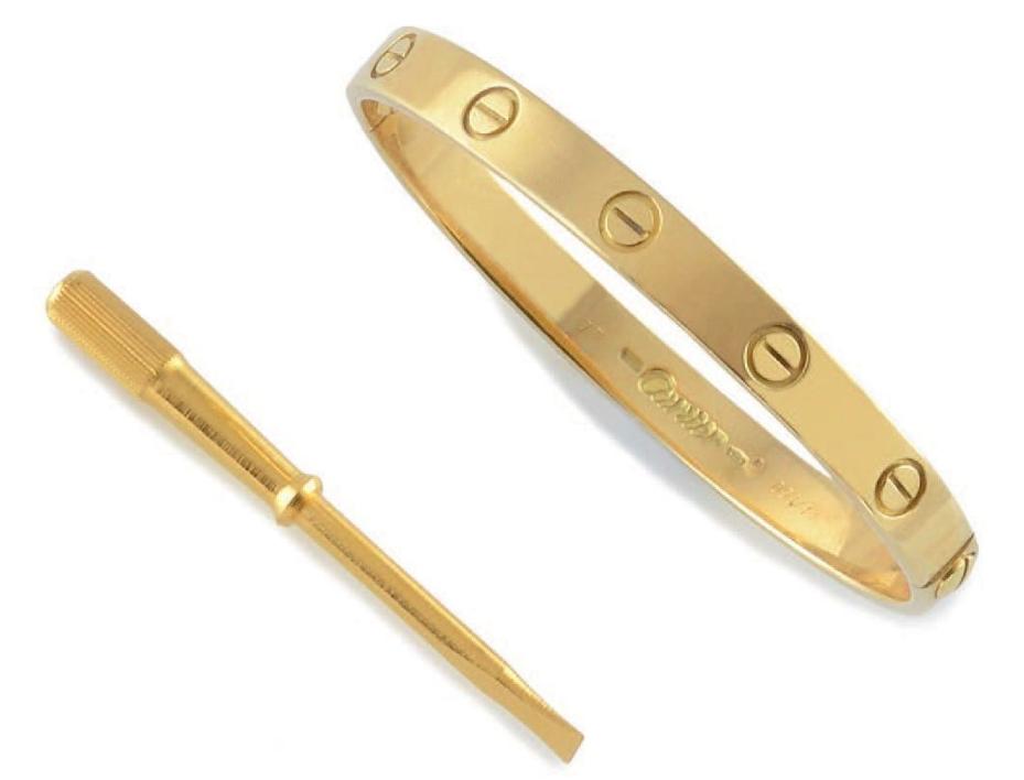Cartier, armband i guld. Utrop. 9.200 Sek. Osenat