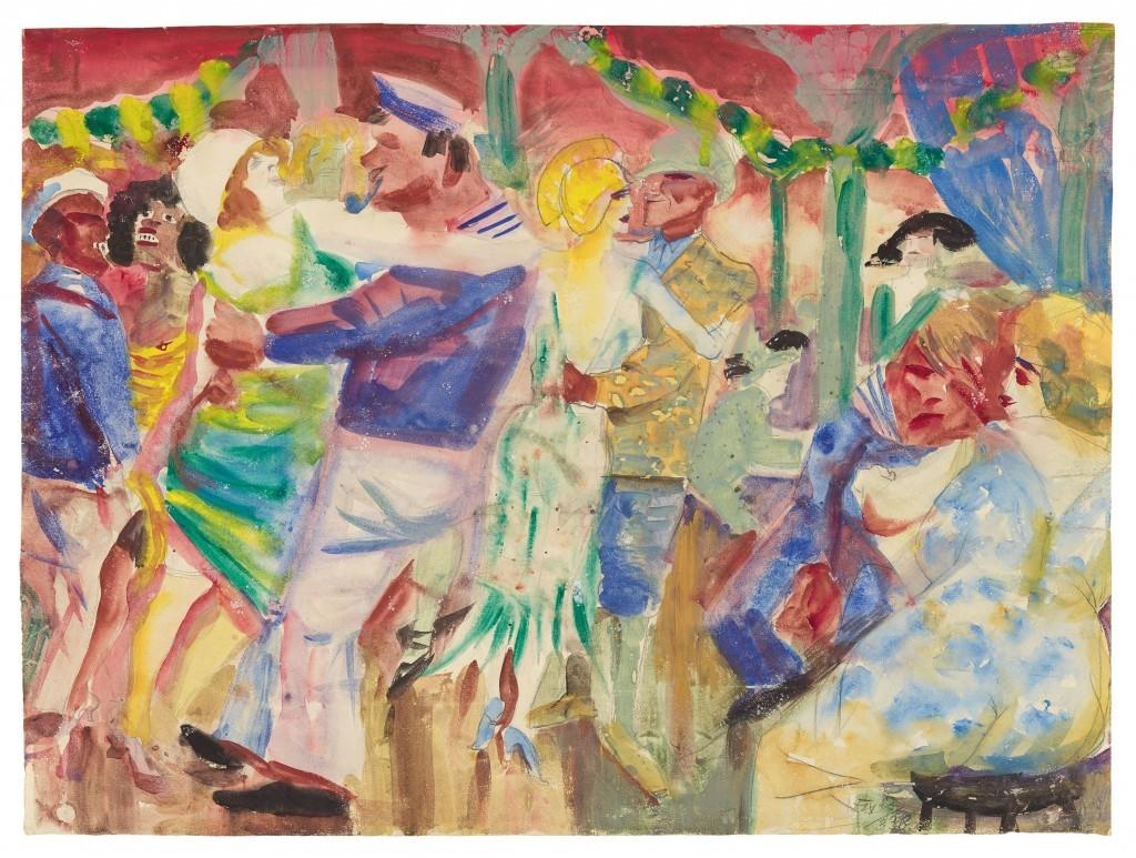 Otto Dix, 'Dance Hall in St. Pauli', 1925. Photo: Grisebach